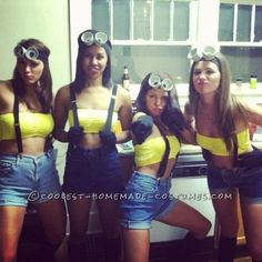 Funny pictures about Despicable Me Halloween costume. Oh, and cool pics about Despicable Me Halloween costume. Also, Despicable Me Halloween costume. Costume Minions, Despicable Me Halloween Costume, Minion Halloween, Girl Group Costumes, Group Halloween Costumes, Friend Costumes, Halloween Outfits, Halloween Customs, Halloween Clothes