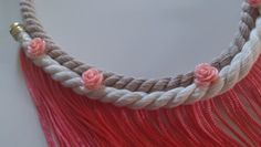 Pink long necklace Tassel Necklace, Crochet Necklace, Handmade Necklaces, Tassels, Pink, Color, Jewelry, Fashion, Moda