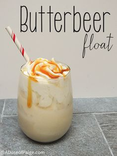 This butterbeer float idea just makes the inner Harry Potter nerd in my squeal.