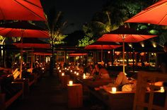 Ku De Ta Beach Club is located in Seminyak, Bali. The hip and cool Ku De Ta is a beach bar, beach restaurant and beach club. Ku De Ta is perfect during sunset. Beach Club, Bali In September, Best Places To Travel, Places To Go, Bali Tour Packages, Bali Restaurant, Bali Baby, Bali Holidays, Beach Bars
