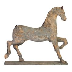 Large Painted Gustavian Toy Horse (6050)