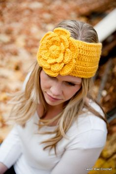 Lily Headwrap/Headband and Flower CROCHET