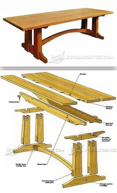 Large Occasional Table Plans - Furniture Plans and Projects | WoodArchivist.com
