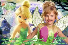Convite digital personalizado Fadas Disney com foto 021