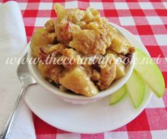 Rustic Apple Cobbler {The Country Cook: Giveaway} - The Topping is based on a pouch of muffin mix