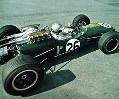 pinterest.com/fra411 #vintage #formula1 - Denny Hulme, Belgian Grand Prix, 1967.  Brabham BT19 (Repco V8 engine)