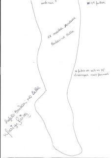 Moldes para Feltro: Bailarina