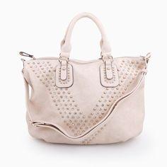Studded Chevron Bag. I want!