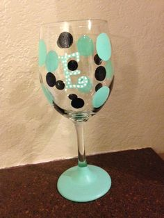 Christmas gift idea for BFF. Hand Painted Wine Glasses on Etsy, $13.00