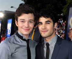 Chris Colfer and Darren Criss!! (Kurt and Blaine forever!! <3 <3)