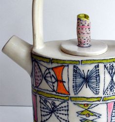 Underglaze Pencil On Teapot