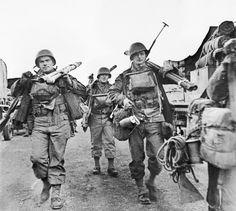 US soldiers on Omaha, June 1944.