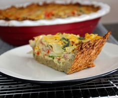 Quiche isn't quiche without a crust. That would be a frittata. Try this grain free, gluten free, dairy free quiche option!