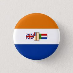 Shop Old South African Flag - Oranje-blanje-blou Pinback Button created by Invmog. South African Flag, South African Air Force, Air Force Symbol, American Flag Waving, Bi Flag, Army Day, Political Events, National Flag, African History