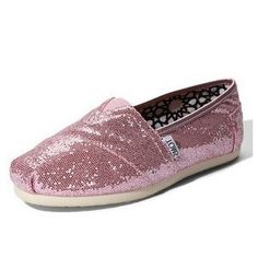 $27.95 on sale!  Pink Diamante Toms Canvas Shoes sale on toms outlet.