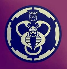 Cobra, Skeletor, Mumm-Ra, Decepticon faction logo, and the Empire's logo from Star Wars...mashed up into one.