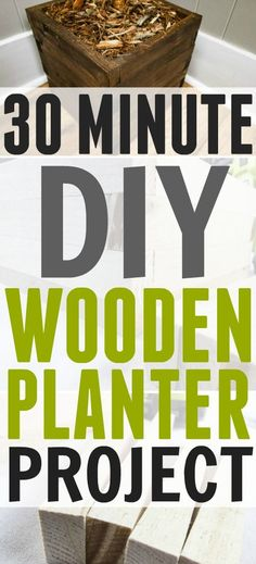This cute DIY wooden planter can be made in 30 minutes or less!