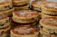If you are not of Welsh descent you may not be familiar with Welsh Cakes. I think the best way to describe them would be scone-like, albeit in cookie form. From Joyofbaking.com With Demo Video