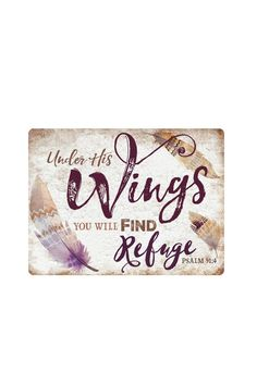 "Inspired by the original design of vintage marketing signage, with the addition of modern elements, this piece is crafted from a think, lightweight metal. Signage comes ready to hang, utilizing small, hinged hooks on back and rounded edges for safety.    Dimensions: Weight: 1.38 lbs Depth: 0.05"" Width: 12"" Height: 16""   Wings Metal Sign by P Graham Dunn. Home & Gifts - Home Decor - Decorative Objects South Carolina"