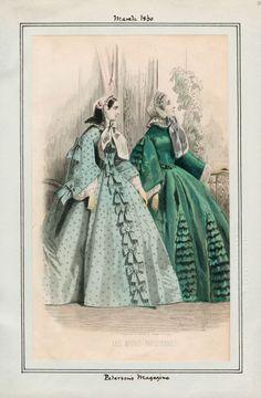 In the Swan's Shadow: Peterson's Magazine, March 1860.  Civil War Era Fashion Plate