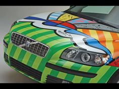 2004 Volvo V50 by Romero Britto - Front End - 1600x1200 Wallpaper