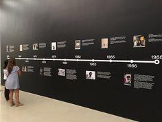 Basquiat Timeline - Picture of Perez Art Museum Miami - Tripadvisor Museum Exhibition Design, Exhibition Stall, Art History Timeline, Perez Art Museum, Office Graphics, Museum Plan, Timeline Infographic, Timeline Design, Museum Displays