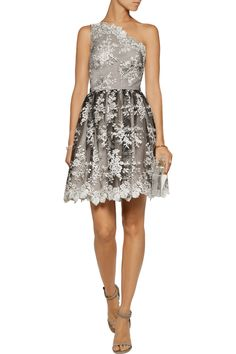 Alice+olivia Woman Tari Cutout Embroidered Tulle Mini Dress Off-white Size 12 Alice & Olivia
