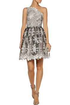 Alice+olivia Woman Tari Cutout Embroidered Tulle Mini Dress Off-white Size 12 Alice & Olivia 74gf4