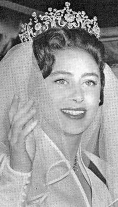 Princess Margaret on her wedding day