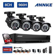 annke 8 canales hdmi 960H dvr cctv 800tvl al aire libre sistema de cámaras de seguridad en el hogar del hd – USD $ 99.99