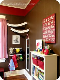 Budget Beautiful Bungalow: Preston's Toddler Room {Dress-Up Corner}