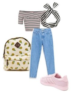 """Sweet jeans"" by missrorodu46 on Polyvore featuring mode, Topshop et adidas"