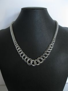 Graduated Persian Chainmaille Necklace. Couture Armour. Chainmaille jewelry and accessories by Michael Witt.