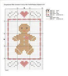 Resultado de imagem para cross stitch gingerbread man
