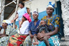 September 2: Women wait outside a clinic in the Democratic Republic of Congo.  Photo: International Medical Corps Staff, DRC 2009