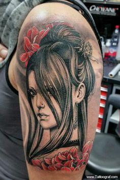 Tattoo by Viktor Meyer Samurai Tattoo, Yakuza Tattoo, Japanese Sleeve Tattoos, Band Tattoo, Flowers Nature, Black And Grey Tattoos, Beautiful Tattoos, Body Art Tattoos, Piercings