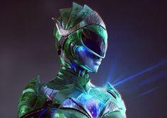 Artes mostram o Visual da Power Ranger Verde