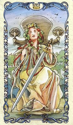 Tarot Card of the Week: Queen of Swords · One of the most collectible and celebrated artists of the art deco movement, Alphonse Maria Mucha (24 July 1860 – 14 July 1939) was a Czech Art Nouveau painter and decorative artist. (more)...