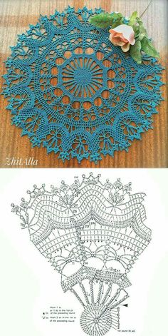 Free Crochet Doily Patterns, Crochet Doily Diagram, Crochet Doilies, Crochet Home, Crochet Crafts, Crochet Projects, Thread Crochet, Couture, Knitting