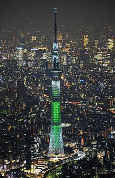 Tokyo Skytree, Japan, currently the highest tower in the world (634 meters, was built between 2008 and 2012)