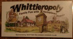 Wtheck!! Whittieropoly board game...Gasp! I gotta get this