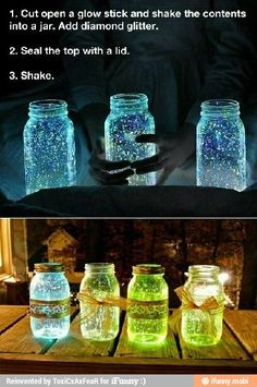I love this idea to shed some soft light on the deck! Great for a Party! Very cute idea!! summertime BBQ?