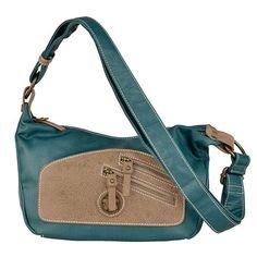 Bolso crossbody de pu de cierre de cremallera, 2 bolsillos exteriores, trasero e interior.  Medidas: 24x17x11