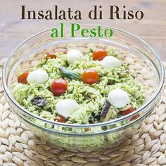 Insalata di riso al pesto - Summer Recipes, Healthy Dinner Recipes, Vegetarian Recipes, Cooking Recipes, Salty Foods, Buffet, Home Food, Antipasto, Light Recipes