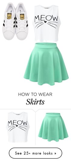 """""""meow"""" by ninjaa12 on Polyvore featuring Miss Selfridge, LE3NO and adidas Originals"""