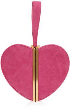 DIANE VON FURSTENBERG  Heart Box Clutch Bag   <3