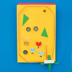 Craft Patterns – Design-Your-Own Pinball Machine Recycled Crafts Kids, Recycled Art Projects, Fun Crafts For Kids, Projects For Kids, Arts And Crafts, Stem Projects, School Projects, Recycled Materials, Easy Crafts
