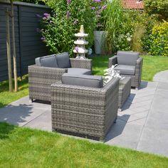 Amelia 4 seater set, wicker furniture, outdoor range
