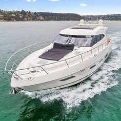 Riviera 6000 Sport Yacht A powerful performer with 6 Star accommodation. Available for immediate delivery Contact 02 9327 0000 for more details Sport Yacht, Motor Yachts, Cool Boats, Boating, Luxury Lifestyle, Delivery, Star, Sports, Hs Sports