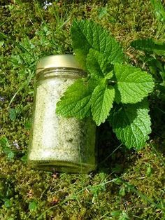 Prohibited good ⚠: lemon balm ~ sugar - How To Crafts Lemon Balm, Kitchen Gifts, Spice Mixes, Food Gifts, Diy Food, Homemade Gifts, Food Inspiration, The Balm, Herbalism